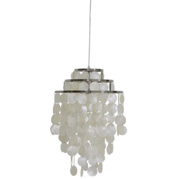 Light & Living - Hanglamp TOLERO - Schelpen Nikkel - L - 3004078