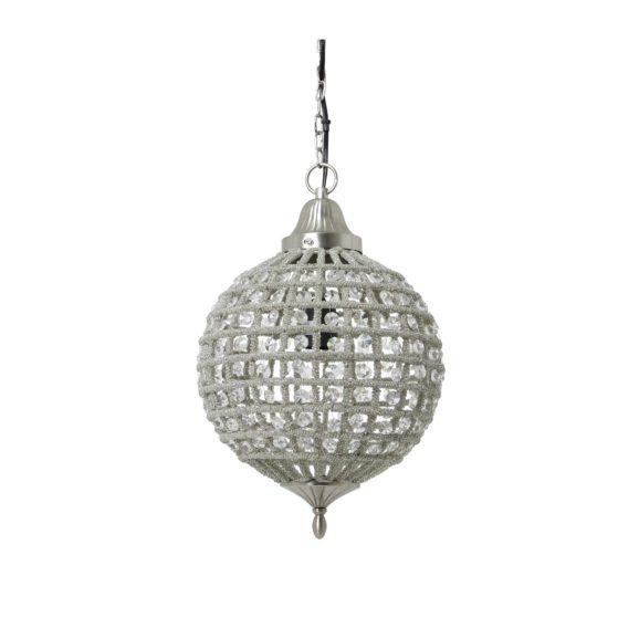 Light & Living - Hanglamp CHEYENNE - Nikkel-Kristal - M - 3049319