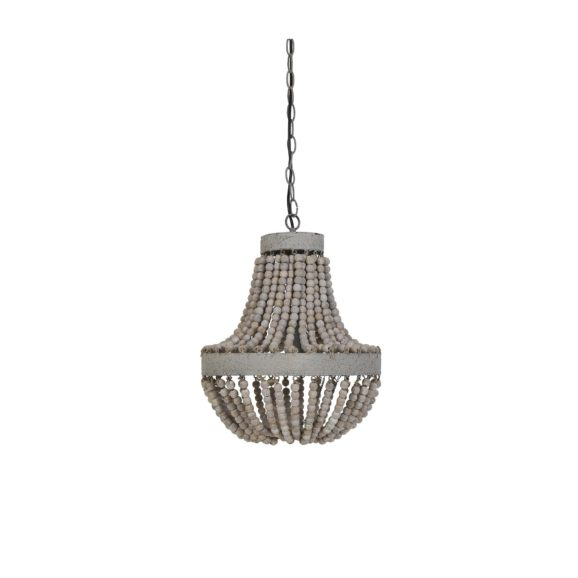 Light & Living - Hanglamp LUNA - Kralen Oud Wit - M - 3056973