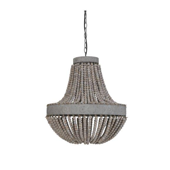 Light & Living - Hanglamp LUNA - Kralen Oud Wit - L - 3057073