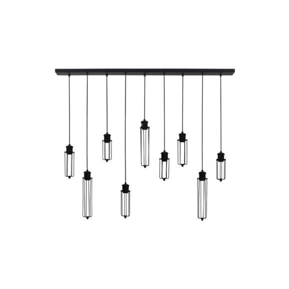 Light & Living - Hanglamp DAGMAR - Zwart - 9-lichtpunten - 3065112