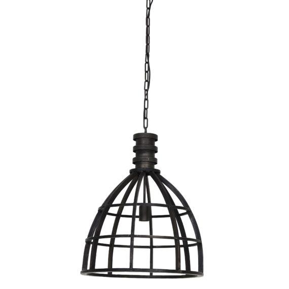 Light & Living - Hanglamp IVY - Zwart Industrieel - 3069916