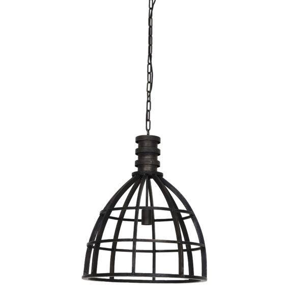 Light & Living - Hanglamp IVY - Zwart Industrieel - 3069916