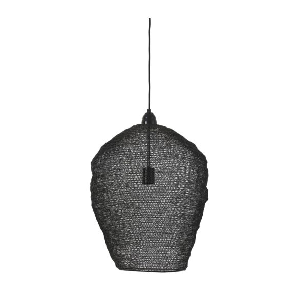Light & Living - Hanglamp NIKKI - Gaas Glans Zwart - 3072558