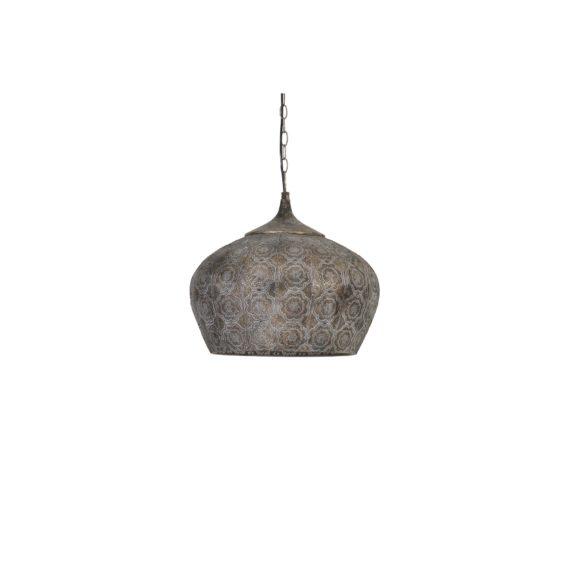 Light & Living - Hanglamp EMINE - Bruin Goud - M - 3084456