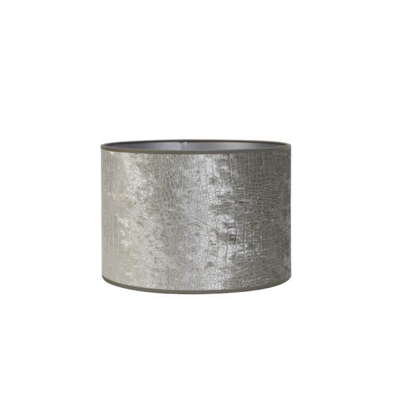 Cilinder Lampenkap Chelsea - Velours Zilver - Ø30 x 21 cm