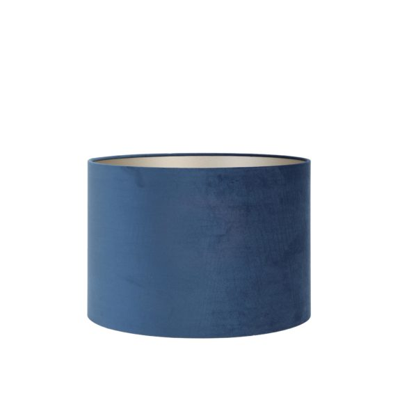 Cilinder Lampenkap Velours - Petrol Blue - Ø30 x 21 cm