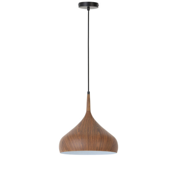 Hanglamp Igram - Bruin/Wit - Ø33x36 cm
