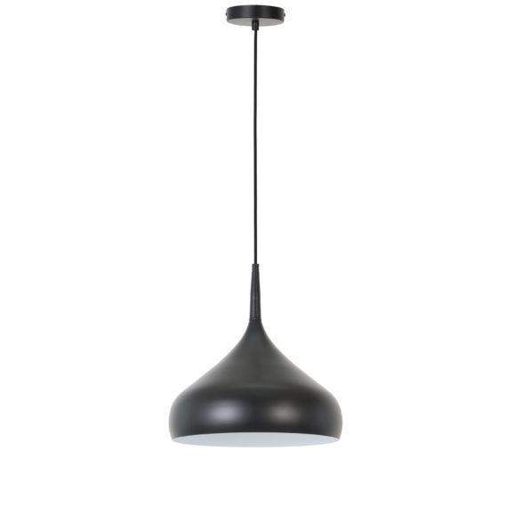 Hanglamp Igram - Mat Zwart/Wit - Ø33x36 cm