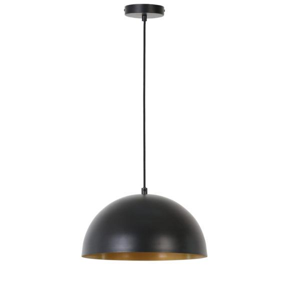 Hanglamp Isak - Mat Zwart/Goud - Ø30x15 cm