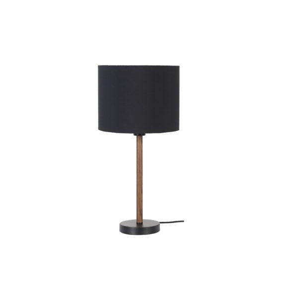Tafellamp Aiko - Zwart/Bruin - Ø28x55