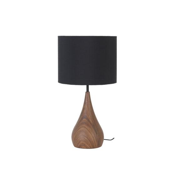 Tafellamp Svante - Zwart/Bruin - Ø28x50 cm - Incl. Lampenkap